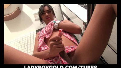 Ladyboy Dream Morning Wank Cum
