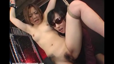 Japanese FemDom With Huge Vibrators Torment Sex Slave Female Submissive