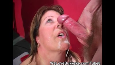 Shooting cumshots into mature