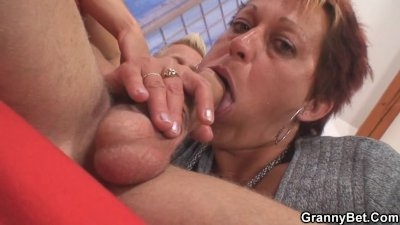 Stallion bangs granny next door