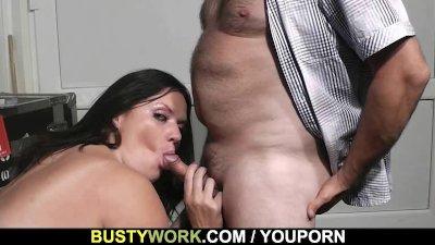 BBW slut rides his dick