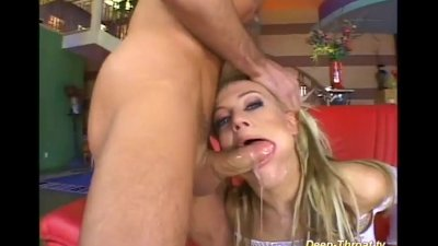 deepthroat gagging in all holes