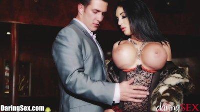 DaringSex Big Tit Babe in Lingerie Lounge Fantasy