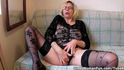 Perverted granny pushes her fi