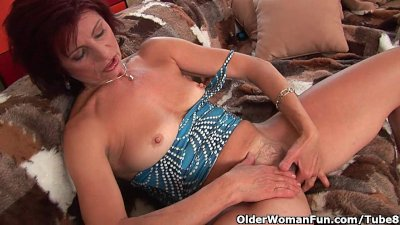 Granny with hard nipples and h