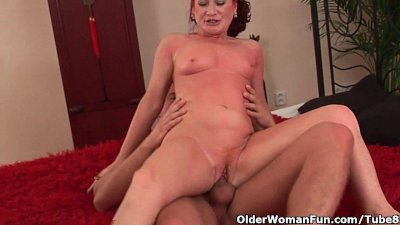 Red hot grandma gets her small