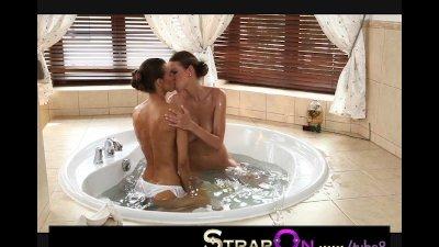 StrapOn Two beautiful lesbians