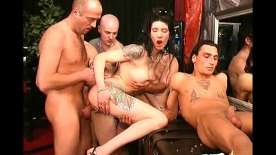 Cock piercing and group fuckin