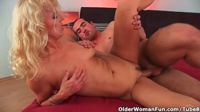 Lustful granny gets fucked hard
