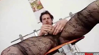 Huge hammer twink in tights
