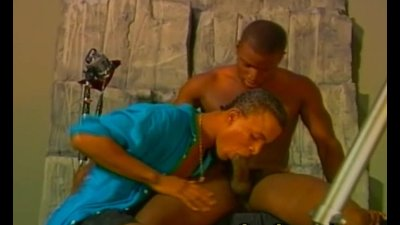 Black Gay Dude on Deep Throat Blowjob and Anal Sex