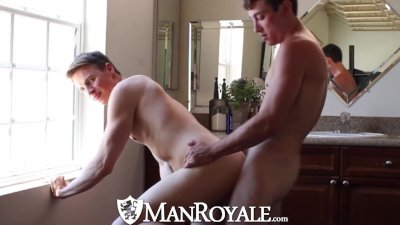 ManRoyale Guy get fucked in his freshly shaved ass