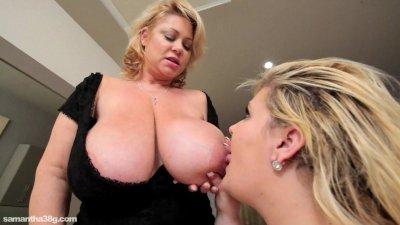 Big Tit Lesbians Lick Tits N Clits In Cozy Hotel Room