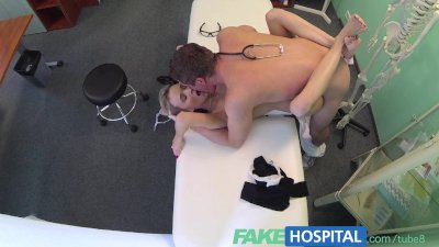 FakeHospital Doctor sinks his cock into blondes tight juicy pussy as sexual
