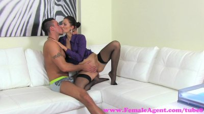 FemaleAgent. MILF gets her pussy fucked hard as stud secures a job