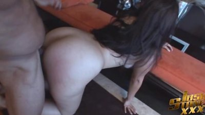 Big Booty Latina From Miami Spreads for Big Black Cock
