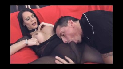 Shemale Fernanda and her man suck each others cocks