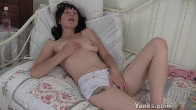 Small Titted Amelia Fingering Her Pussy