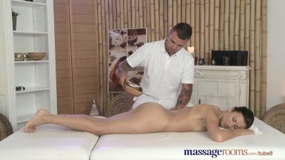 massage rooms cute babe is bathed before she is banged with monster penis