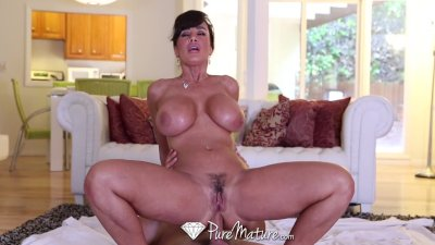 HD - PureMature Lisa Ann gets ass fucked by her younger man