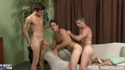 Married guy Alex gets double fucked