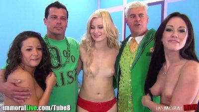 St.Patrick's pornstar orgy party! Vol.6