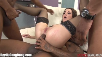 Devils Gangbangs A Black Cock for Every Hole