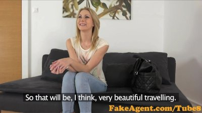 FakeAgent Horny blonde amateur loves big cock up her ass in Casting