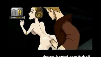 Cartoon Facial Parody video: Star Wars Porn - Padme loves anal