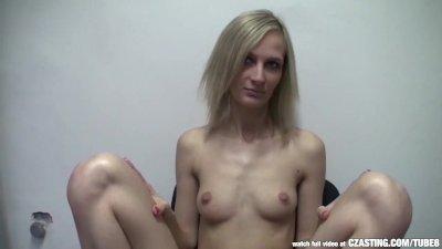 CZasting - Skinny Czech blonde