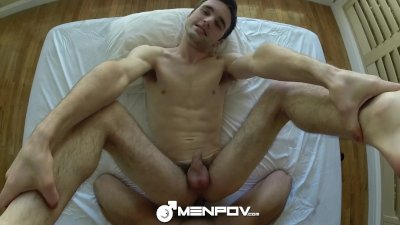 HD MenPOV - Cute guy cums hard on his friend in POV