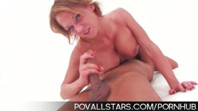 POVAllstars Nikki Sexx gives BJ and swallows jizz