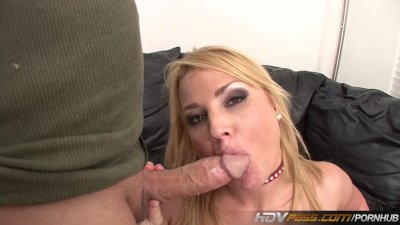 Blonde Blowjob Chubby video: HDVPass Blonde babe Flower Tucci does Anal