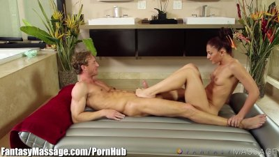 FantasyMassage Step-Siblings Sensual Oily Fucking