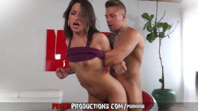 Brunette Cumshot Petite video: Good Slut Bad Cop