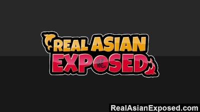 RealAsianExposed Cute Asian Teen Strips And Masturbates