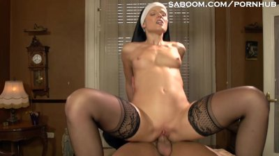 Blowjob Doggystyle Facial video: Naughty Nun