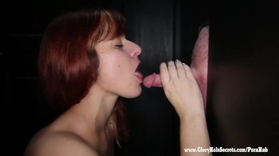 Gloryhole Secrets sexy redhead loves hard cock 2