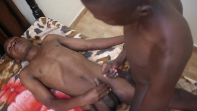 African Twinks Cum Covered