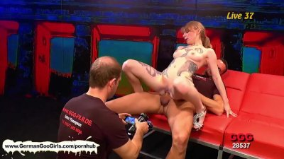 Tattooed blonde vixen proves that she is good at dick pleasing