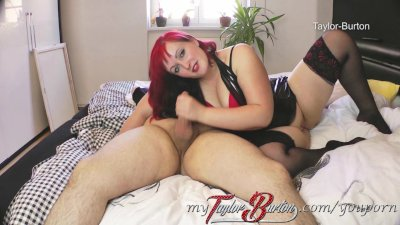 Taylor-Burton – BBW gets cum in her face! – Facial!