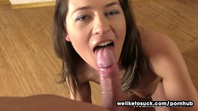 Weliketosuck Rough deepthroat and cum play
