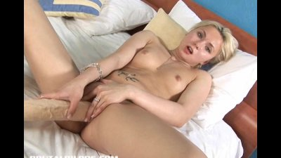 Blonde Russian fills her tight