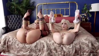 Blonde Bondage Busty video: Step-Mother and Step-Daughter Sex Slaves