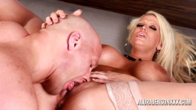 Alura Jenson hot blowjob and anal fuck