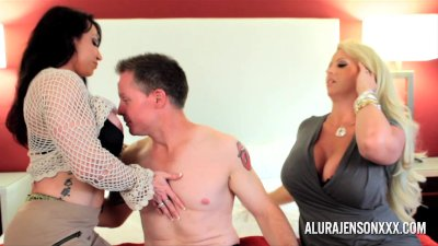 Alura Jenson Milf Threesome Fuck Arrest with Brandie Mae