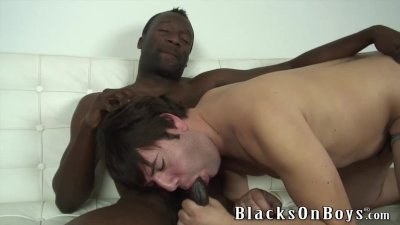 Joey Tries Gay Sex With A Black Guy