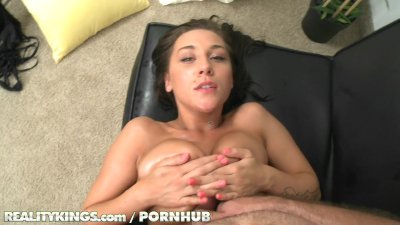 Reality Kings - Victoroa Webb Shows off her big natural boobs