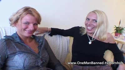 Very tall blonde takes an anal