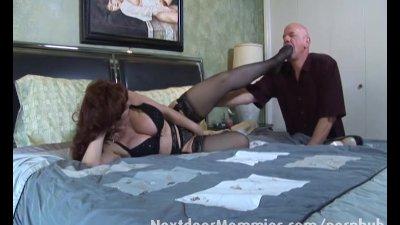 Bald guy fucks big breasted re